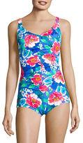 Penbrooke Botanical Tummy Control One-Piece Swimsuit