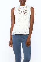 Sea Exploded Eyelet Top