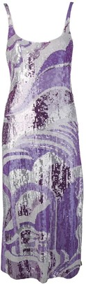 Emilio Pucci cami-styled sequinned dress