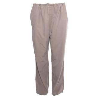 Maison Margiela Beige Cotton Trousers