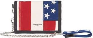 Saint Laurent American Flag Chain Wallet