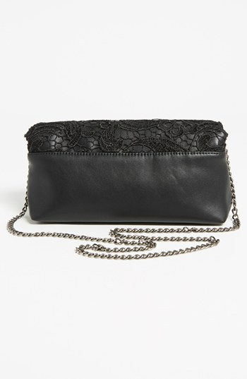 POVERTY FLATS by rian Lace Foldover Clutch