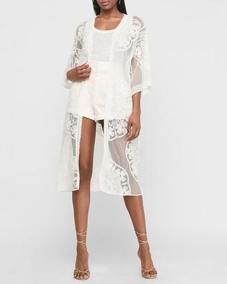 Express Lace Kimono Cover-Up