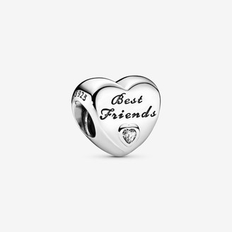 Pandora Polished Best Friends Heart Charm