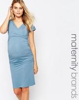 Isabella Oliver Short Sleeve Wrap Dress