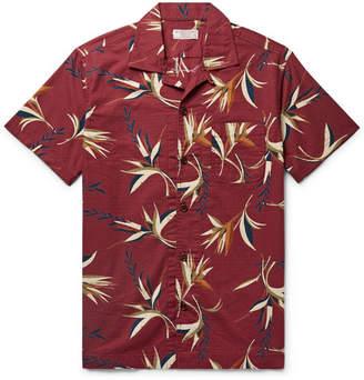 J.Crew Wallace & Barnes Camp-Collar Printed Cotton-Ripstop Shirt