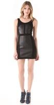 Rebecca Minkoff Stella Leather Paneled Dress