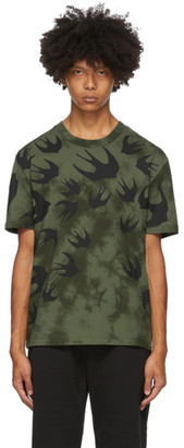 McQ Green Tie-Dye Swallows T-Shirt