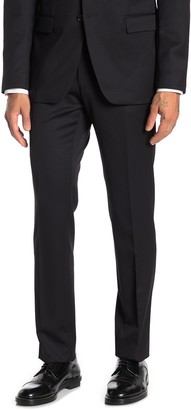 John Varvatos Bedford Black Solid Wool Suit Separates Trousers