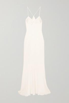 Galvan Cutout Satin Gown - White