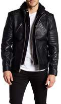 LAMARQUE Leather Hooded Jacket