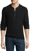 Ovadia & Sons ZACK KNIT WAFFLE HENLEY LS S