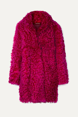 Sies Marjan Ripley Shearling Coat - Fuchsia