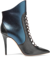 Malone Souliers Mona paneled leather ankle boots