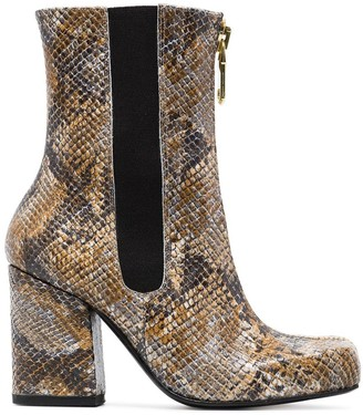 Roker Jacs 90 snakeskin print boots