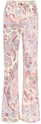 Etro High-rise printed flare jeans