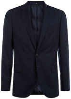 Jaeger Herringbone Super 130s Wool Regular Fit Suit Jacket, Navy