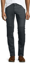 Belstaff Blackrod Slim-Stretch Jeans W/Knee Panels, Charcoal