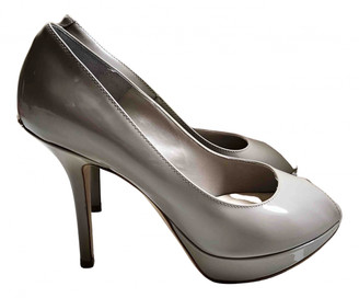 Christian Dior Miss Peep Toes Grey Patent leather Heels