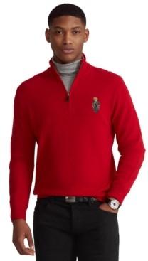 Polo Ralph Lauren Men's Polo Bear Quarter-Zip Sweater