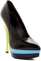 Versace Platform Pointed Toe Pump
