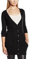 Yumi Women's Pointelle Long Sleeve Cardigan,Size