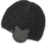Karl Lagerfeld Black Choupette Earmuff Knit Hat