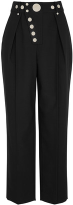 Alexander Wang Black Wide-leg Twill Trousers