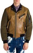 Viktor & Rolf Men's Colorblock Leather Jacket