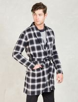 Discovered Black Kilt Collar Robe Shirt Coat