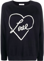 Chinti and Parker Love heart motif jumper