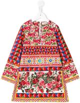 Dolce & Gabbana Carretto con Rose dress - kids - Cotton - 5 yrs