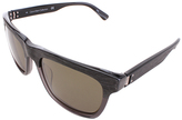 Calvin Klein Charcoal Gray Wood Square Sunglasses - Adult