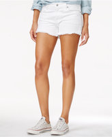 7 For All Mankind White Wash Cut-Off Shorts