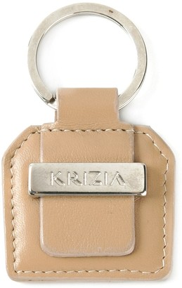 Krizia Pre Owned Logo Key Ring