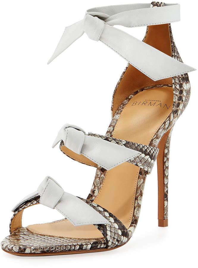 Alexandre Birman Lolita Strappy Python Sandal