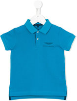 Aston Martin Kids embroidered logo polo shirt