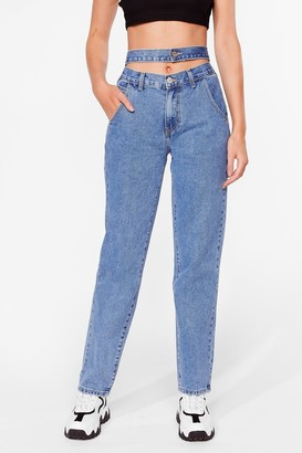 Nasty Gal Womens Double Vision Straight Leg Jeans - Blue