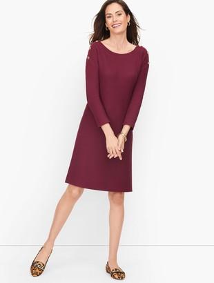 Talbots Knit Bateau Neck Dress - Solid