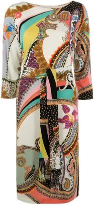 Etro Midi Jacquard Fabric Dress