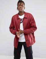 Nike Sb Sheild Coach Jacket In Burgundy 829509-677