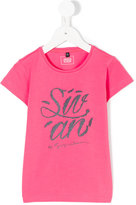 Armani Junior logo print T-shirt - kids - Cotton/Spandex/Elastane - 4 yrs