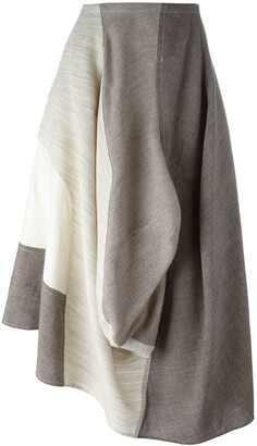 Comme des Garcons Pre-Owned 1998 mixed fabric skirt