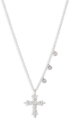 Meira T Diamond Cross Necklace