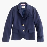 J.Crew Girls' two-button schoolboy blazer