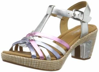 Gabor Shoes Women's Comfort Sport Ankle Strap Sandals Multicolour (Silber K. (Ba.St) 90) 7.5 UK (41 EU)