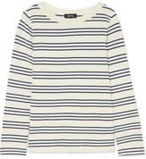 A.P.C. Fog Striped Cotton Top - White