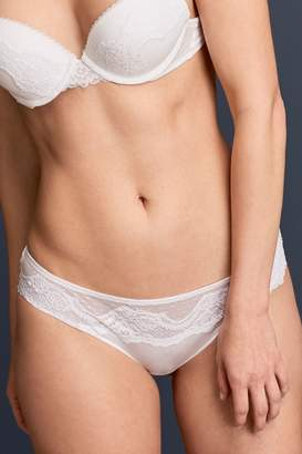 Next Womens White Lace Knickers - White