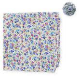 Original Penguin Bruguera Floral Pocket Square & Mixed Print Lapel Pin Set