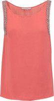 Rebecca Minkoff Manesh bead-embellished silk-chiffon top